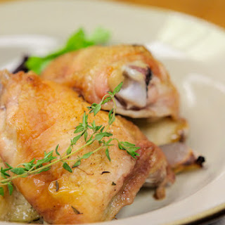 Crispy Chicken with Apples and Shallots