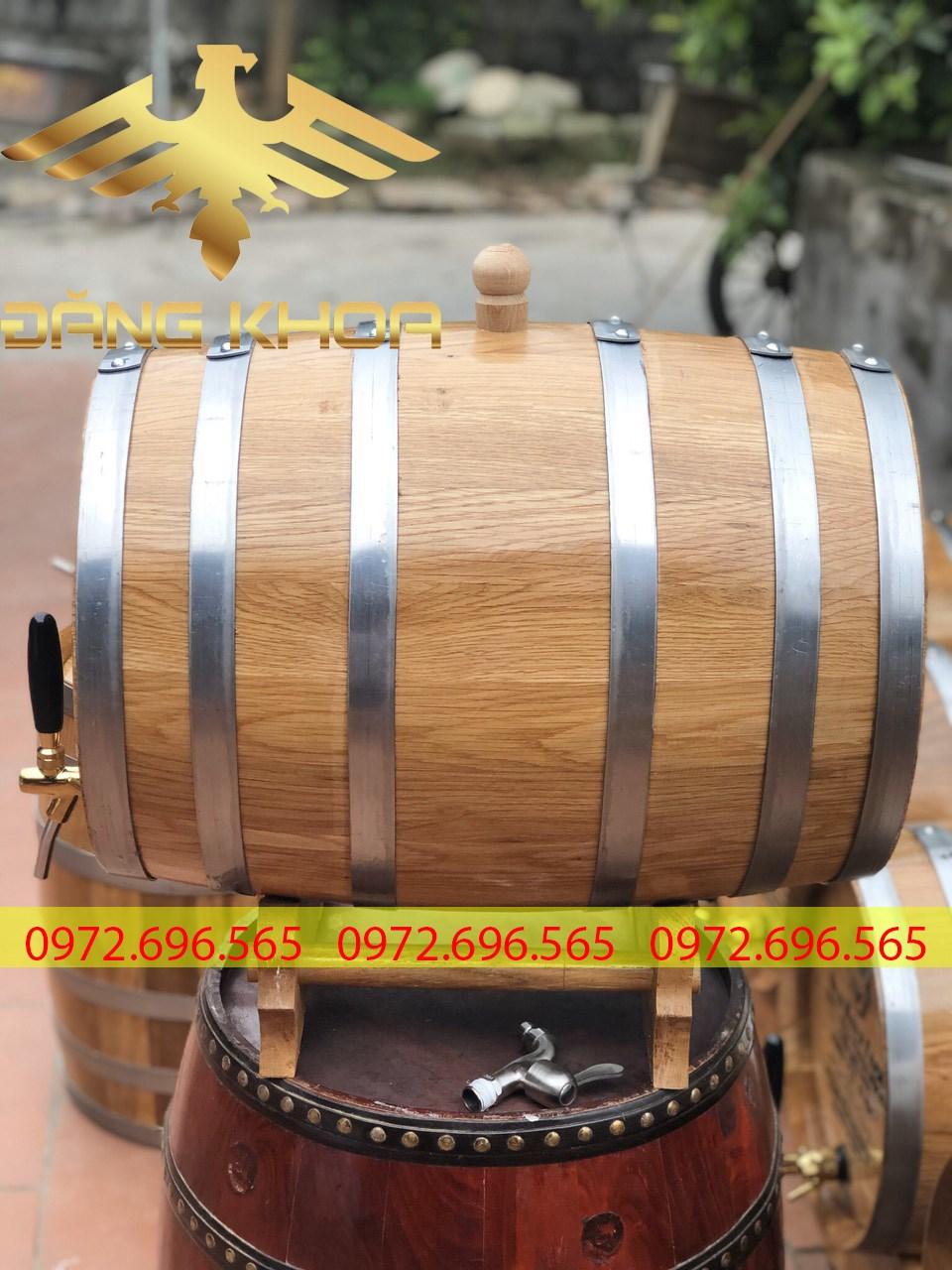 Chất lượng thùng gỗ đựng rượu cực kỳ tốt