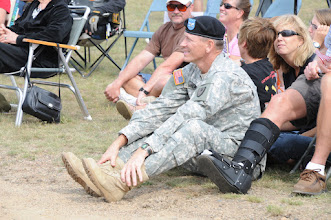 Photo: Col. Richard Weaver, Camp Ripley Commander, enjoying the concert