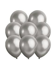 Metallic ballonger, silver 10 st
