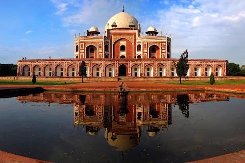 Humayun's tomb by Saptarshi Mandal - Travel Locations Landmarks ( landmark, reflection, sky, india, travel, architecture, historical )
