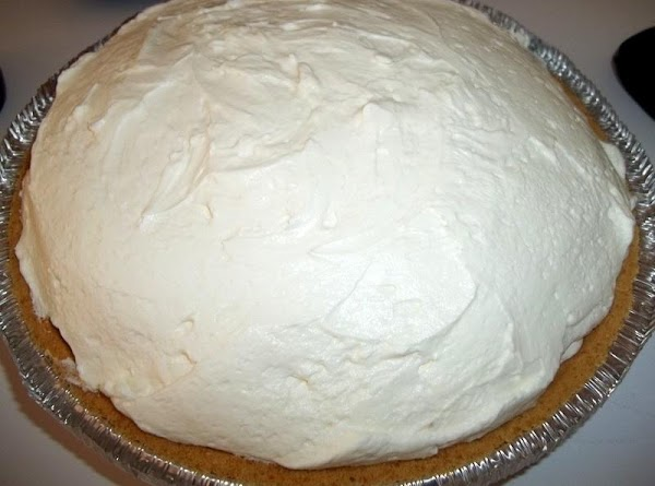 Now, fold in remaining whipped cream until all is incorporated.Refrigerate to chill.