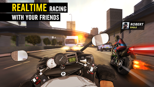 MotorBike: Traffic & Drag Racing I New Race Game apkpoly screenshots 5