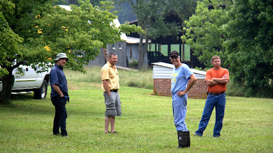 Photo: The Planning Committee, featuring Brent (in orange) the Best Builder in the World