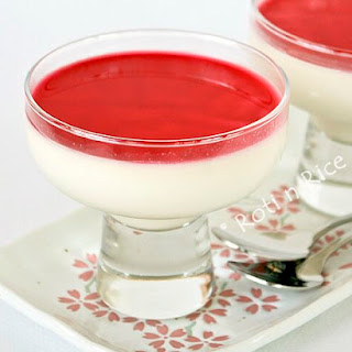 Panna Cotta with Cranberry Orange Sauce