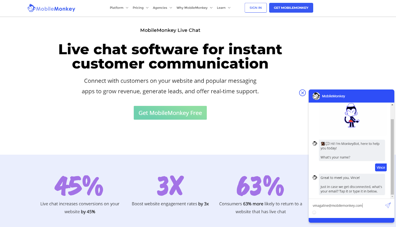 B2B marketing tools - live chat software