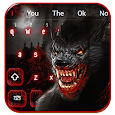 Bloody Scary Wolf Keyboard Theme