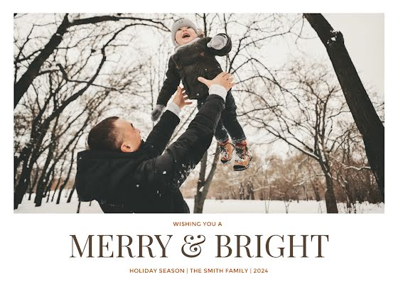 Greetings From the Smiths - Christmas Card Template