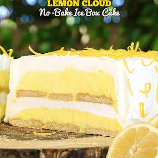 Lemon Cloud No-Bake Ice Box Cake.