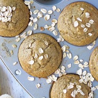 Banana Oatmeal Flax Muffins.