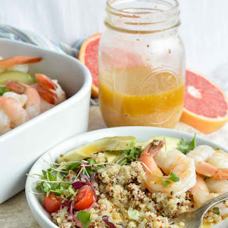 Shrimp Avocado Salad with Grapefruit Vinaigrette