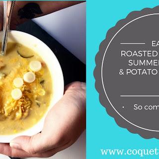 Roasted Poblano, Summer Corn, and Potato Chowder.