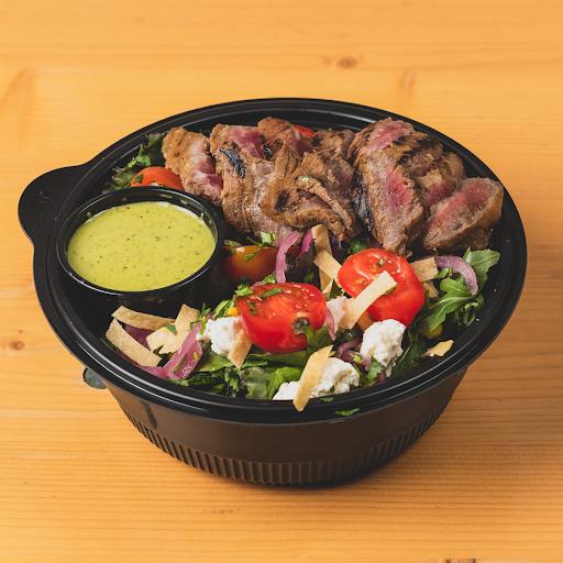 Carne Asada, Greens & Crispy Tortilla Salad