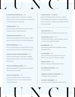Lunch Menu - Food Menu item