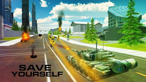 Télécharger Gratuit Guerre: Robots Vs Tanks APK MOD (Astuce) screenshots 2