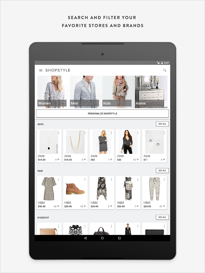shopstyle shopping amp fashion android apps on google play