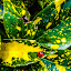 Bird of play by Raymond Fitzgerald - Nature Up Close Leaves & Grasses ( green, leaves, nature, yellow, ladybug )
