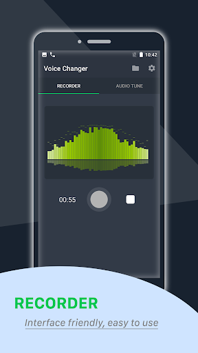 voice changer: recorder and audio tune screenshot 1