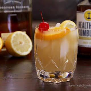 Kombucha Whiskey Sour Cocktail.