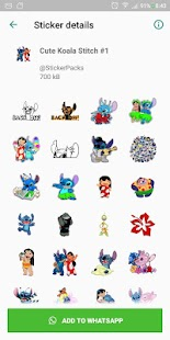 Cute Koala Stitch & Friend Stickers for WhatsApp Screenshot
