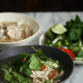 Easy Vietnamese Chicken Pho with Bok Choy and Herbs (Pho Ga Recipe).
