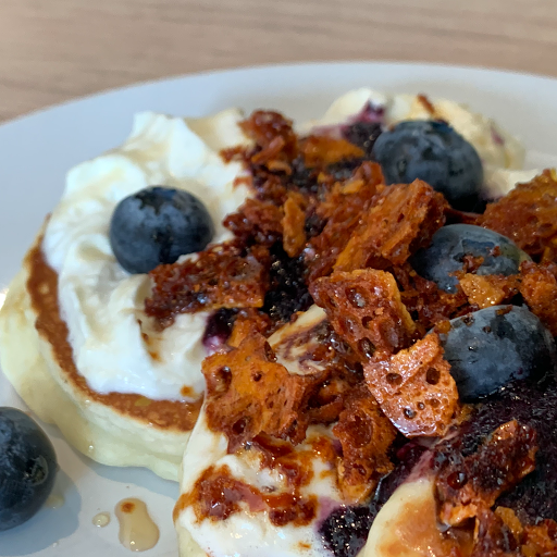 Blueberry Yuzu Mochi Pancakes