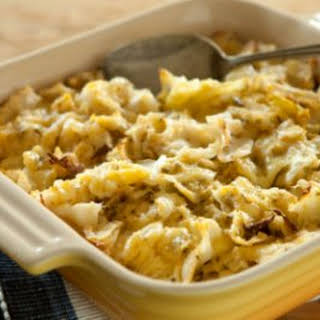 Cabbage and Cheddar Gratin.