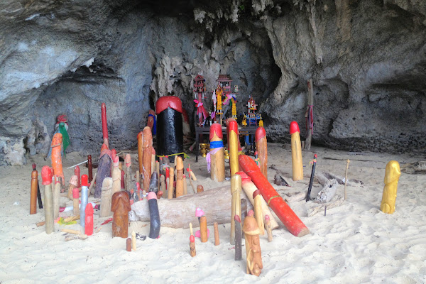 Visit the Phallus Shrine in Phra Nang Cave