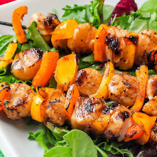 Ginger Soy Grilled Scallops.