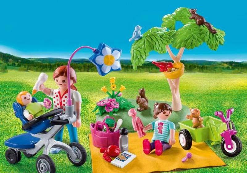 Contenido real de Playmobil® 9103 Maletín Grande Picnic Familiar
