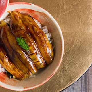 Roasted Eggplant Donburi.