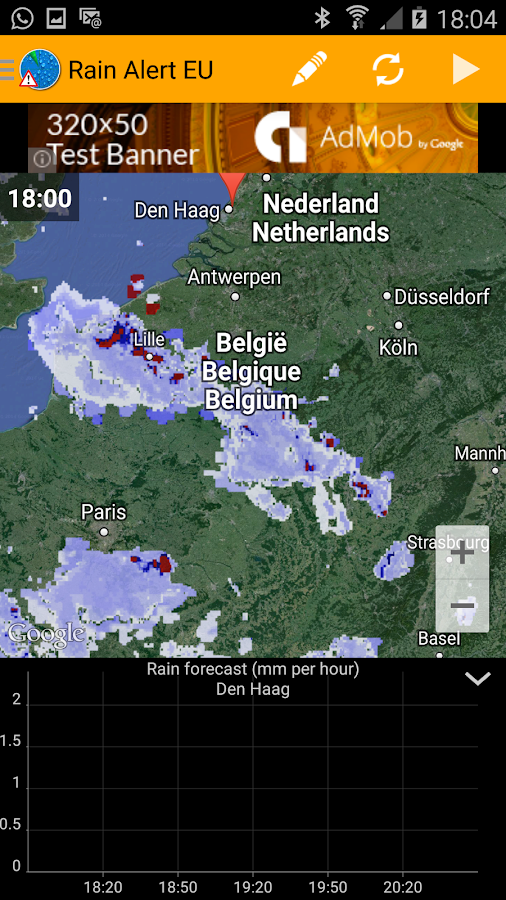 Rain Alert Europe- screenshot