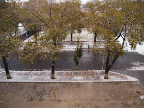 Photo: 1st snow in lat Autumn: scene outside of benzrad's QRRS Office.