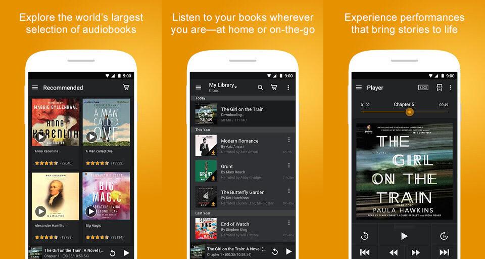 audible app screenshot