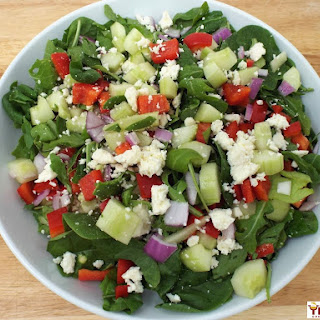 Mediterranean Spinach and Arugula Salad.