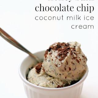 Honey Basil Chocolate Chip Coconut Milk Ice Cream