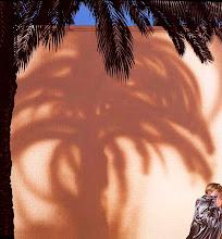 """Photo: """"Gilles sous les palmiers"""", 1975, acrylique sur toile"""