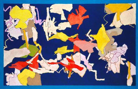 아론은 자신만의 독창성을 가지고 강렬한 색감의 그림을 보여준다. 아론이 2010년 'remember hurgess'라는 이름으로 그린 그림이다.