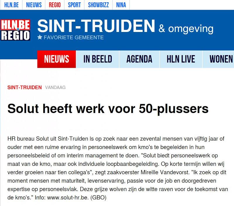 Solut in Het Laatste Nieuws 17/09/2017