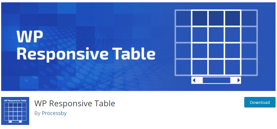 WordPress responsive table plugins