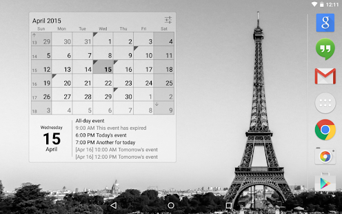 Calendar Widget (key)- screenshot thumbnail