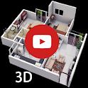 3D Home Designs: House Plan Designs & Videos icon