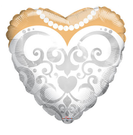 Folieballong - Brudklänning