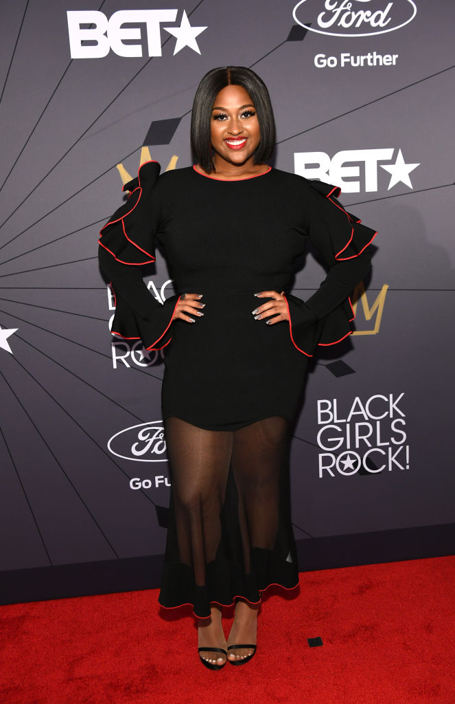 Jazmine Sullivan at the 2018 BET Black Girls Rock! Awards.