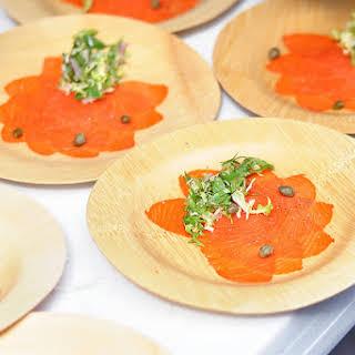Salmon Carpaccio.