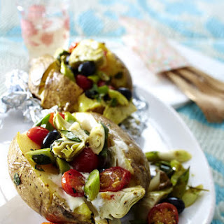 Baked Potatoes with Mediterranean Vegetables.