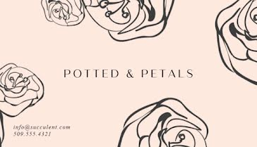 Potted & Petals - Business Card template