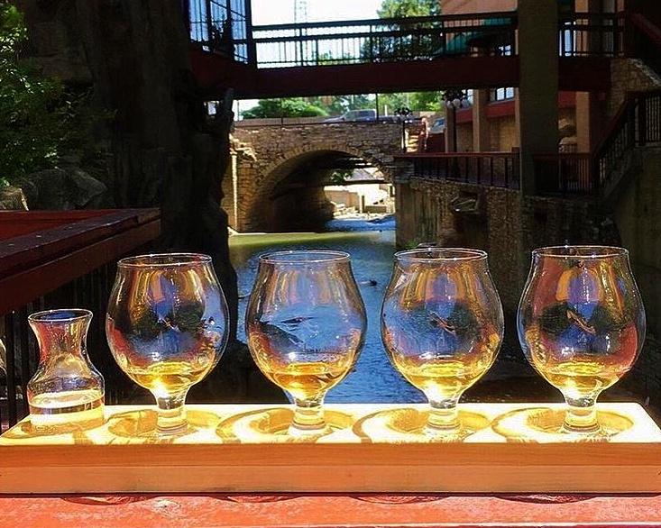 Easy Tiger's bourbon tasting.