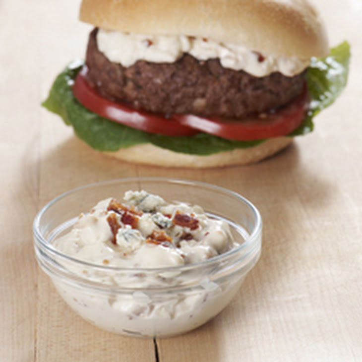 Best Ever Juicy Burger with Blue Cheese & Bacon Sauce Recipe