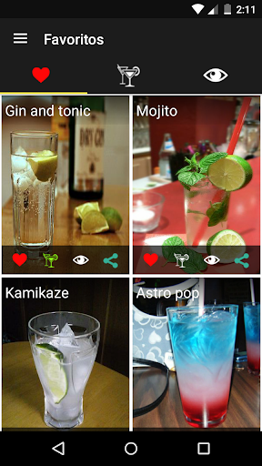 Cocteles Bebidas